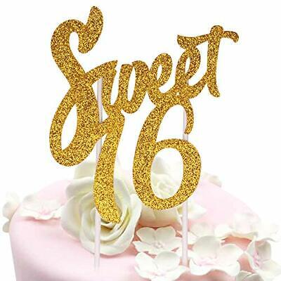 Sweet 16 Cake Topper - Happy 16th Birthday Party Decoration Supplies - Sweet  16 Birthday Cake