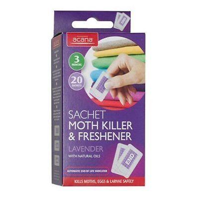 Acana 20 Sachet Moth Killer With Lavender Fragrance Freshener