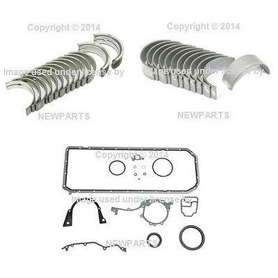 For BMW E30 E34 E36 OEM Main Bearing Set & Rod Bearing Set+Engine Gasket Set