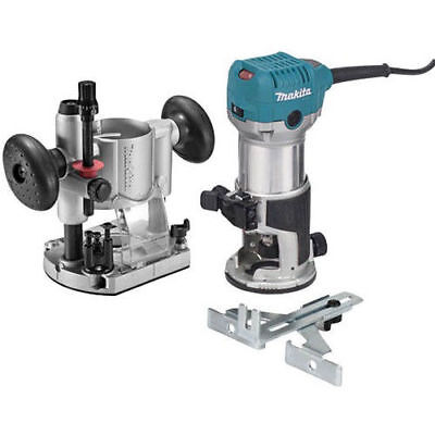 Makita RT0701CX7 1-1/4 HP Slim and Compact Double Insulated Router Kit New