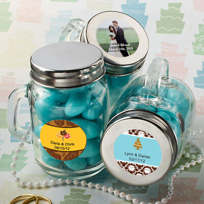 36 96- Personalized Glass Mason Jars - Wedding Shower Party - Mason Jars Bulk Wedding