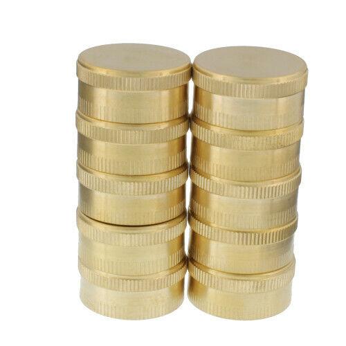 AquaPlumb 0497X10 Brass Garden Hose End Caps, Pack of 10