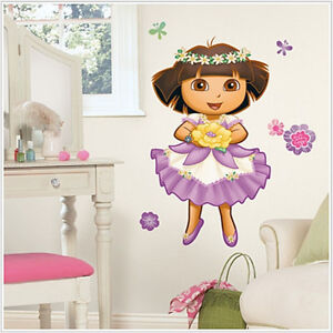 dora the explorer enchanted forest wall stickers 36 mural decal room