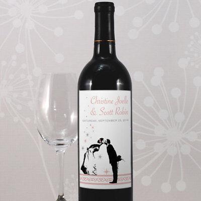 24 Vintage Hollywood Personalized Wedding Wine Bottle - Wedding Wine Bottle Labels