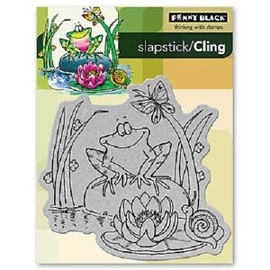 PENNY-BLACK-RUBBER-STAMPS-SLAPSTICK-CLING-TOADILY-HAPPY-STAMP