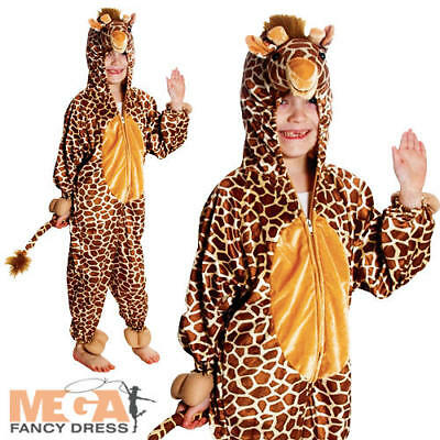 Zoo Giraffe Kids Fancy Dress Animal Book Week Childs Character Costume Outfit