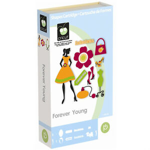 RETIRED Cricut Forever Young fashion girl Cartridge - $45