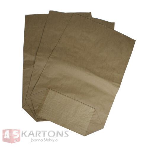 25 St.Papiersäcke Papierbeutel Bio Müllsäcke 70L 550x850+200mm 2-lagig AS12001