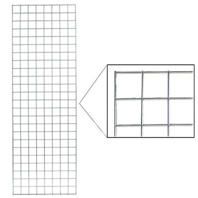 White Wire Gridwall Panel - 2 W X 6 H Feet
