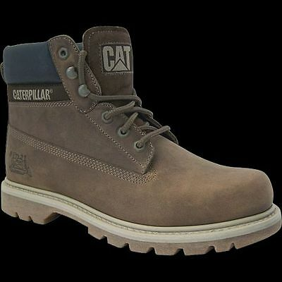 CAT Caterpillar Colorado Schuhe Stiefel Boots Echtleder Dark Beige TOP ANGEBOT Dark Beige Schuhe