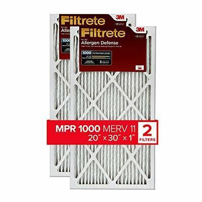Filtrete 20x30x1 AC Furnace Air Filter MPR 1000 Micro Allerg