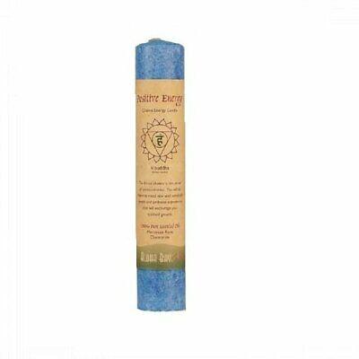 Aloha Bay Chakra Pillar Candle Positive Energy Blue - 1 Cand