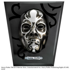 Harry Potter Lucius Malfoy Death Eater Mask with Display Noble Collection NEW