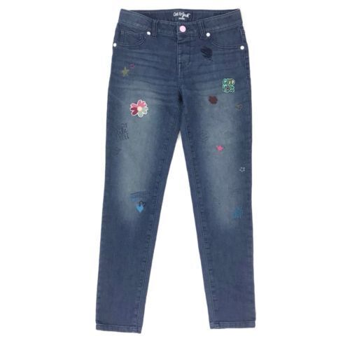 "NEW Cat & Jack Girls Jean Jeggings Super Stretch ""Good Vibes"" Patches Size 18 Clothing, Shoes & Accessories"