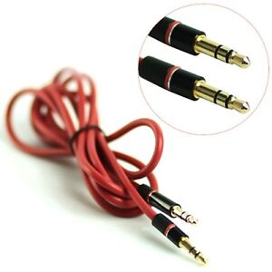 3.5mm Male to Male Stereo Audio Aux Extension Cable, Length: 1.3