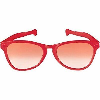 JUMBO RED EYE FRAME GLASSES BIG Lenses Clown Nerd Funny Giant Joke Sunglasses](Jumbo Glasses)