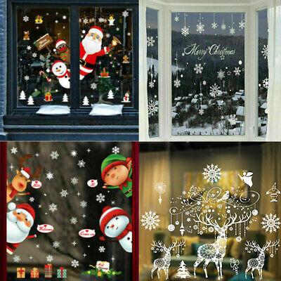 Home Decoration - Christmas Xmas Santa Removable Window Stickers Art Decal Wall Home Shop Decor UK