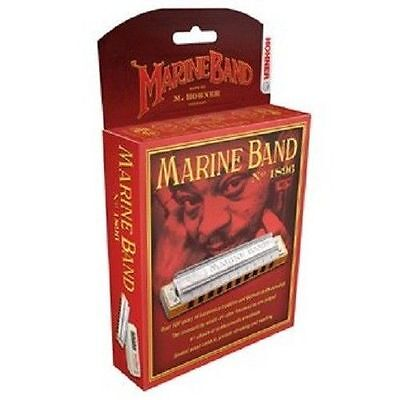 HOHNER MARINE BAND 1896/20 HARMONICA C# HARP FACTORY SEALED NEW IN CASE SALE