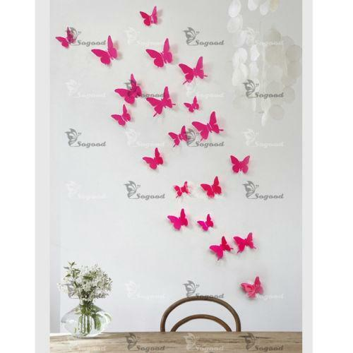 pink butterfly wall stickers ebay
