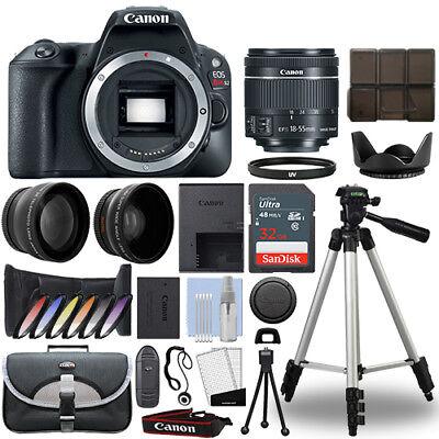 Canon SL2 / 200D DSLR Camera + 18-55mm IS STM 3 Lens Kit + 32GB Best Value