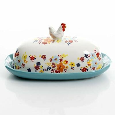 Urban Market by Gibson Life on the Farm figural, Rooster lid, White Butter Dish ()