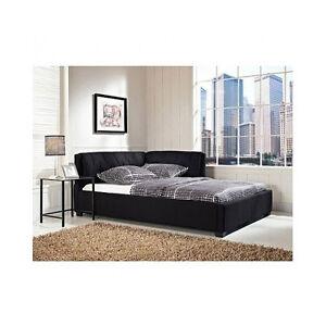 Black Tufted Bed Full