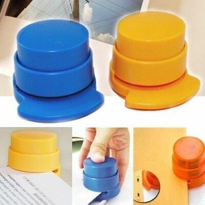 Mini Office Home Stapler Stapleless Staple Free Paper Binding Binder Paperclip