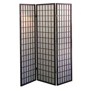 *Brand New* ORE International 3-Panel Room Divider - Cherry