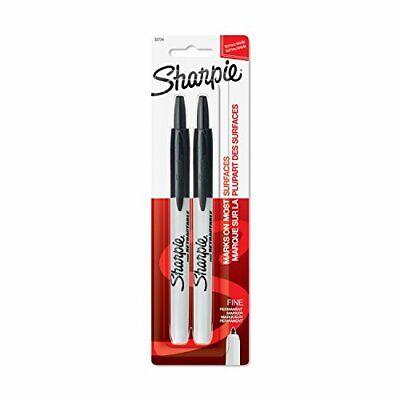 Sharpie Retractable Permanent Markers Fine Point Black 2 Count
