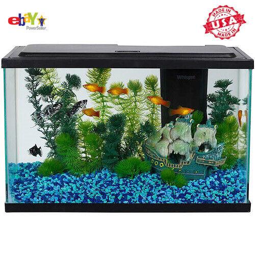 Aqua Culture 5-Gallon Fish Tank LED Aquarium Starter Kit Tetra Food NEW US