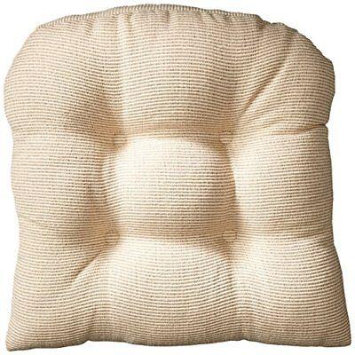 """Klear Vu Gripper Non-Slip Saturn Tufted Universal Chair Cushions, 15"""" x 15"""", Nat"""
