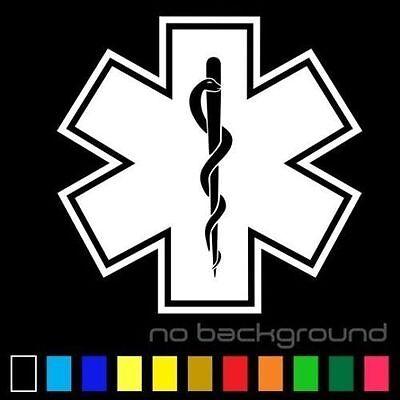 Acheter Star of Life Sticker Vinyl EMT Decal Ambulance Medical Emergency Paramedic EMS bon marché
