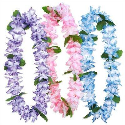 Island Floral Leis Assortment 3 Pack Hawaiian Luau Leis Luau Party - Floral Leis
