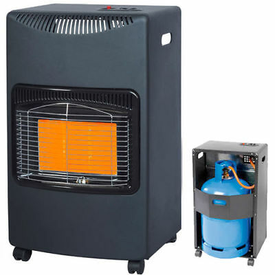 4.2KW CALOR GAS PORTABLE CABINET HEATER FIRE WARM WINTER INDOOR HOME