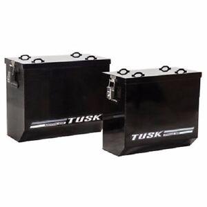 Tusk Aluminum Panniers Large Black Dual Sport Adventure Saddle Bags Pannier