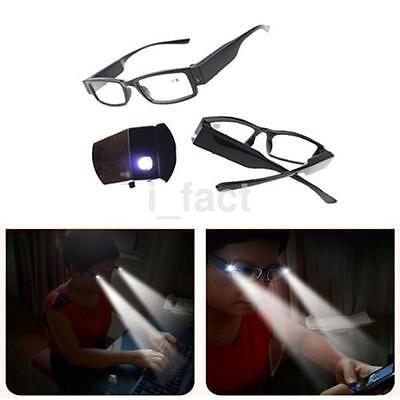 Unisex Rimmed Reading Eye Glasses With LED Light For Older Night Presbyopia US