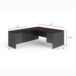 hon 38000 series right handed l shaped desk 38lr7284ns
