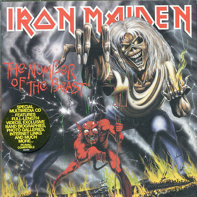 Iron Maiden   Number Of The Beast  New Cd  Enhanced