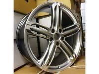 """NEW 19"""" AUDI RS6 5 SPOKE ALLOY WHEELS CONCAVE 5X112 X4 BOXED A4 A5 A6 A7 A8 TT VW"""