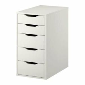 white Ikea Alex Drawer Unit