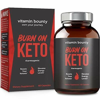Burn on Keto Best Keto Pills with BHB Exogenous Ketones and Green Tea (Best Green Tea Extract Pills)