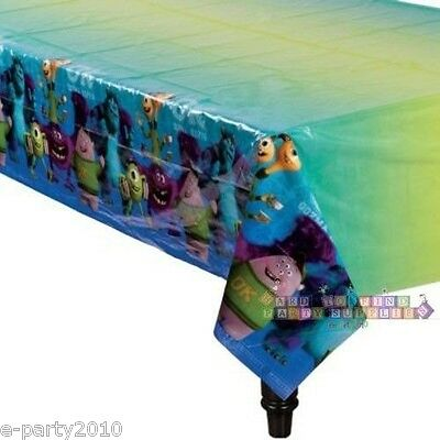 MONSTERS UNIVERSITY PLASTIC TABLECOVER ~ Birthday Party Supplies Tableware ()
