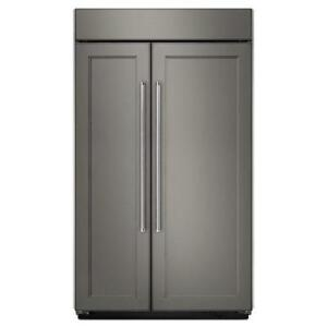 42-inch Kitchen-Aid Refrigerator, Side-by-Side, Custom-panel, Showroom