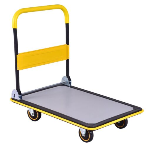 660 lbs Foldable Platform Cart Dolly Hand Truck Ease Transpo