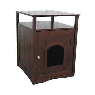 Litter Box Furniture Cat Kitty Bed Pet House End Table Hidden Dog Beds Clean