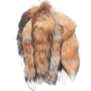 Red Fox Tail Keychain