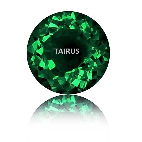Lab Created Hydrothermal Emerald Round Loose Stones