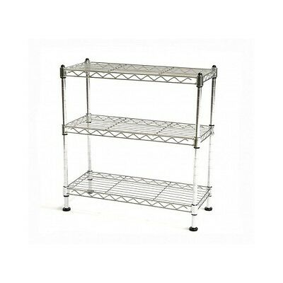 Shelf Cabinet Organizer Rack Storage Tier Kitchen Counter Top Wire Steel Holder