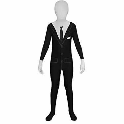 Morphsuits Slenderman Kids Monster Urban Legend Costume - Large 4-46  10-12 Y