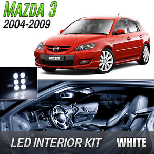 2004-2009-Mazda-3-White-LED-Lights-Interior-Kit-MazdaSpeed-3